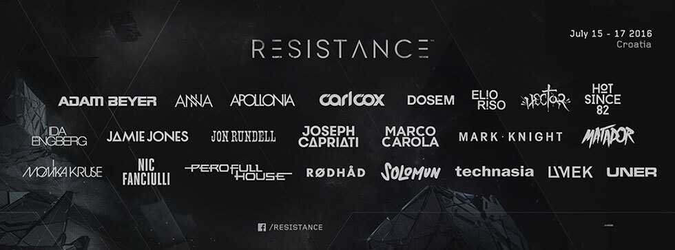 ULTRA Europe Announces Complete Resistance Lineup