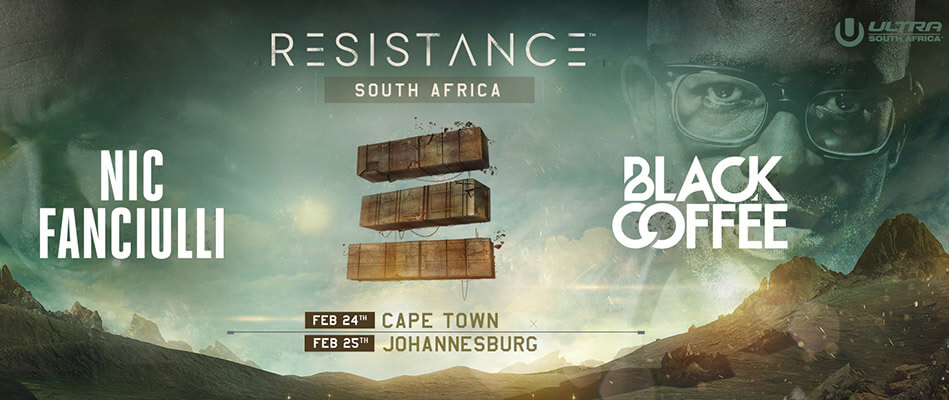 Nic Fanciulli and Black Coffee to Headline RESISTANCE ULTRA South Africa 2017