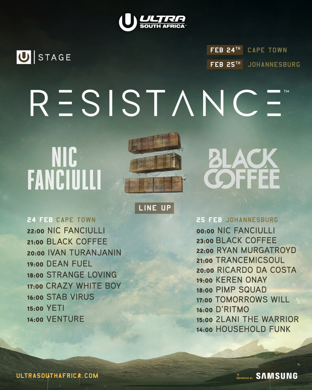 lineup - resistance south africa