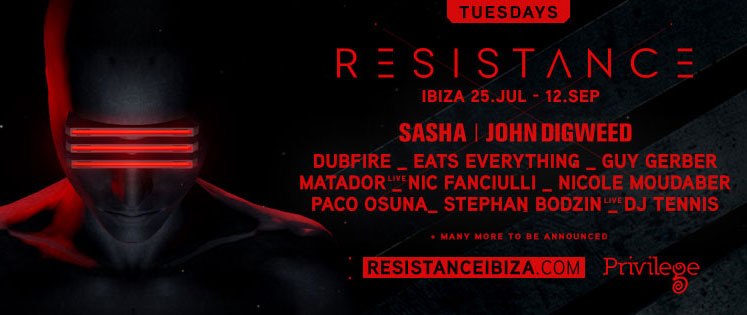RESISTANCE Announces First Round of Artists for Eight-Week Season at Privilege Ibiza