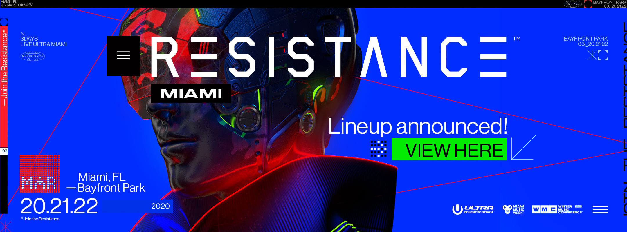 View the Resistance Miami 2020 Lineup