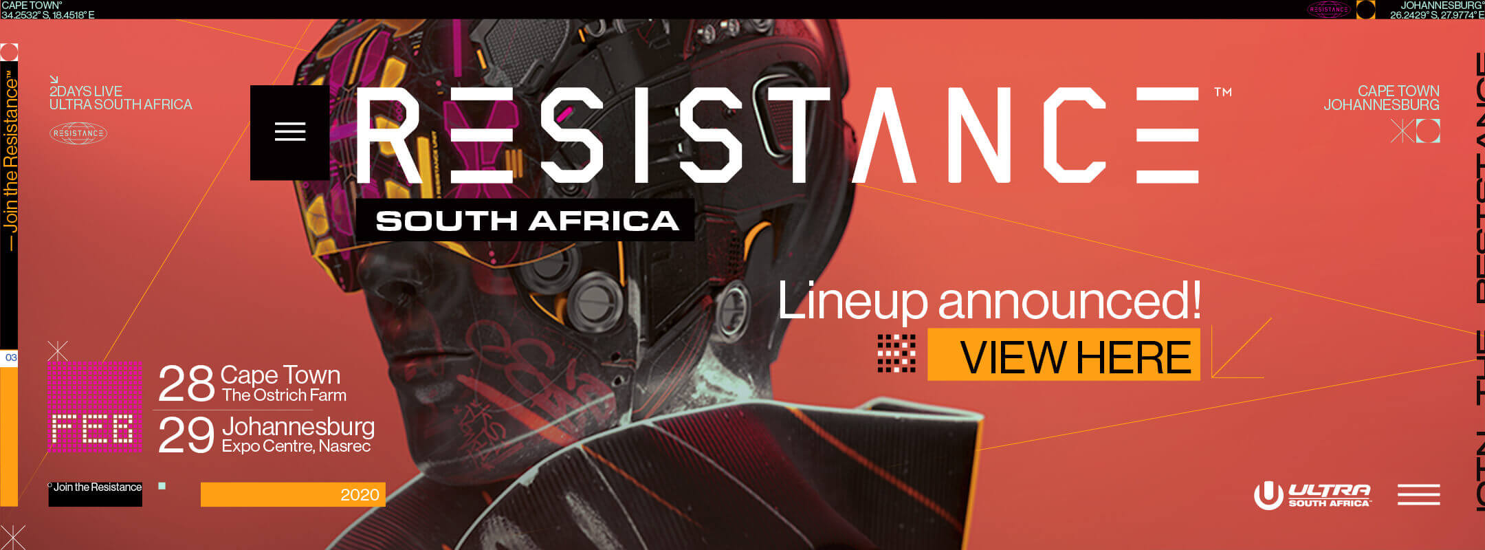 View the Resistance South Africa 2020 Lineup