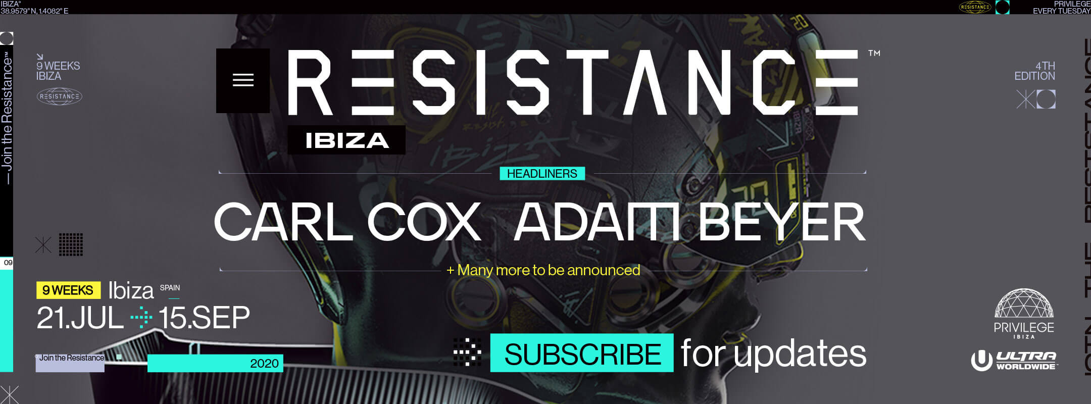 Subscribe for Updates to Resistance Ibiza